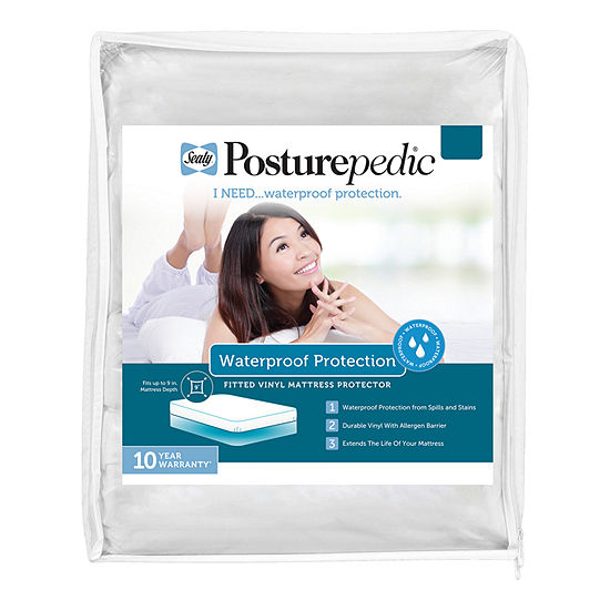 Sealy Waterproof Vinyl Mattress Protector