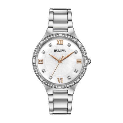 Bulova Womens Silver Tone Bracelet Watch-96l264