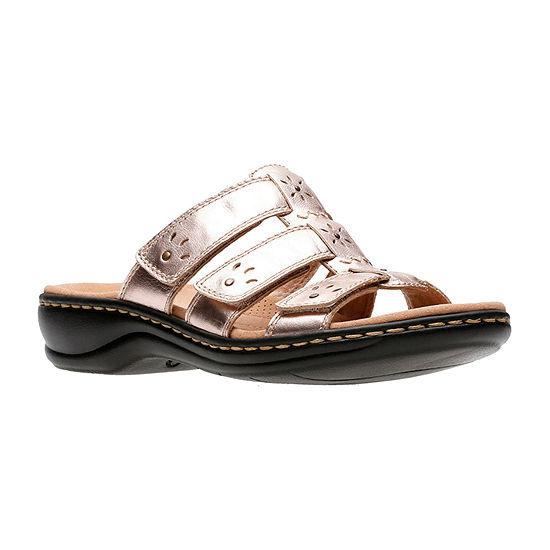 Clarks Womens Leisa Spring Slide Sandals