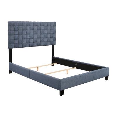 Sorrento Midnight Deep Blue Bed - Queen