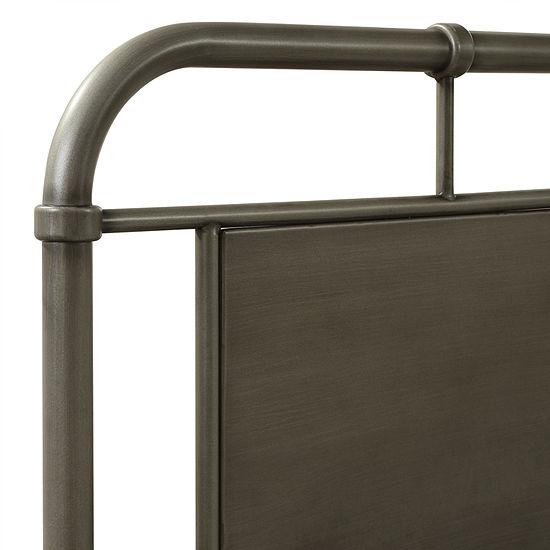 Home Meridian Urban Industrial Upholstered Platform Bed