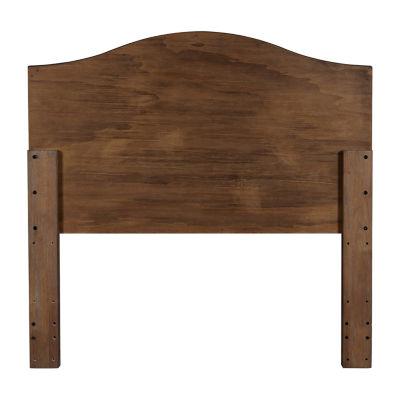 Cerused Oak Queen Wood Headboard