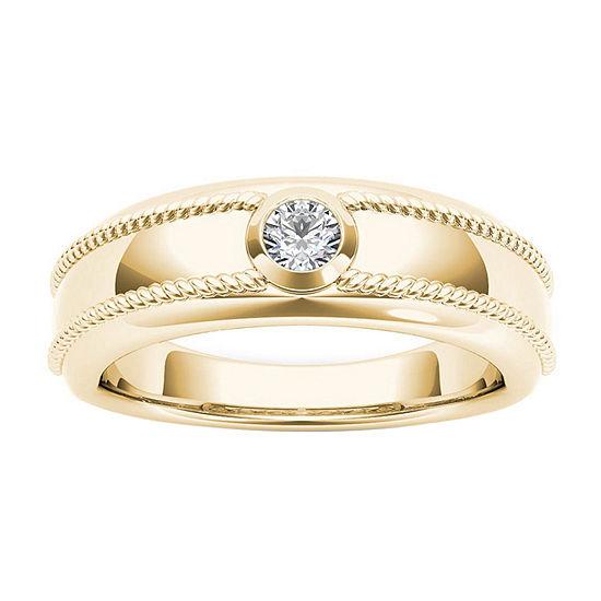 3.5MM 1/5 CT. T.W. Genuine White Diamond 14K Gold Wedding Band