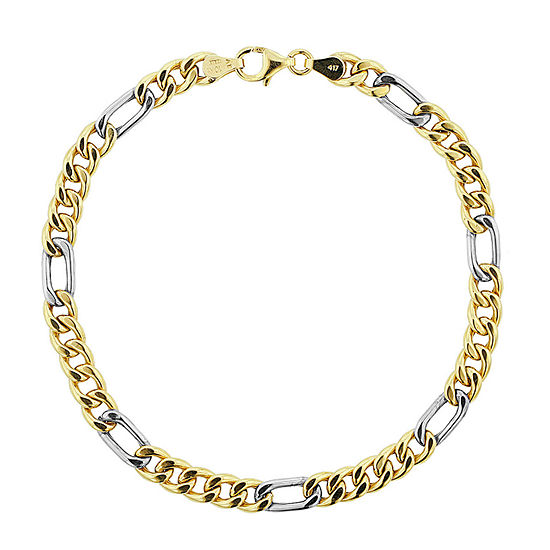 Made in Italy 10K Gold 9 Inch Semisolid Figaro Link Bracelet