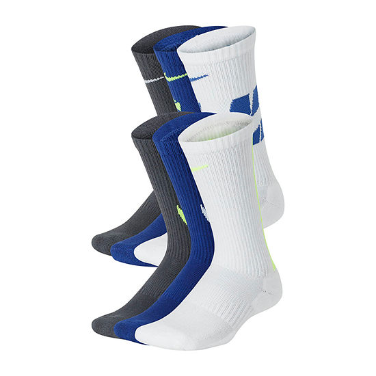 Nike Big Boys 6 Pair Crew Socks