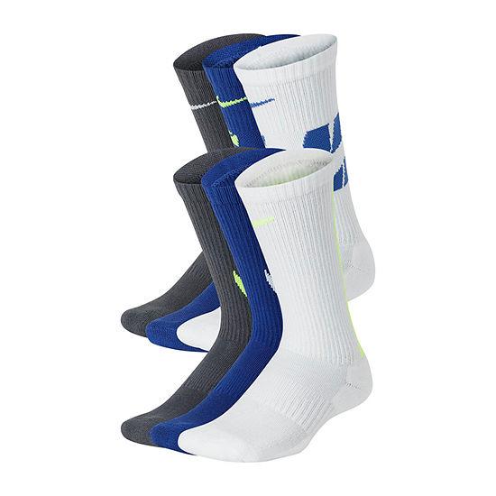 Nike Big Kid Boys 6 Pair Crew Socks