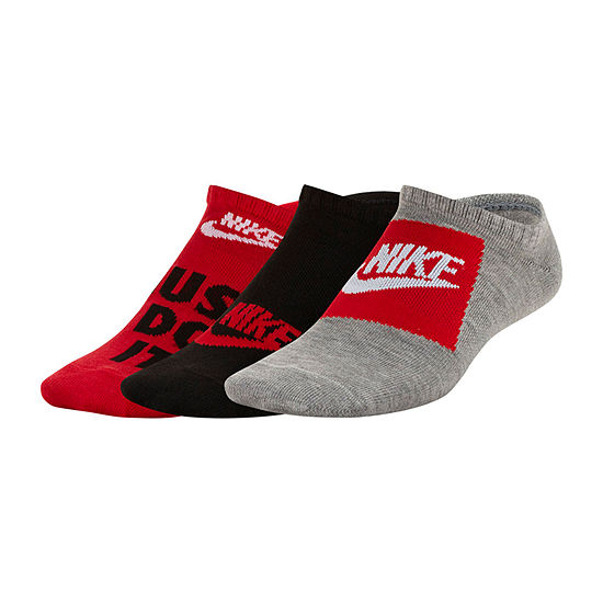 Nike Big Boys 3 Pair No Show Socks