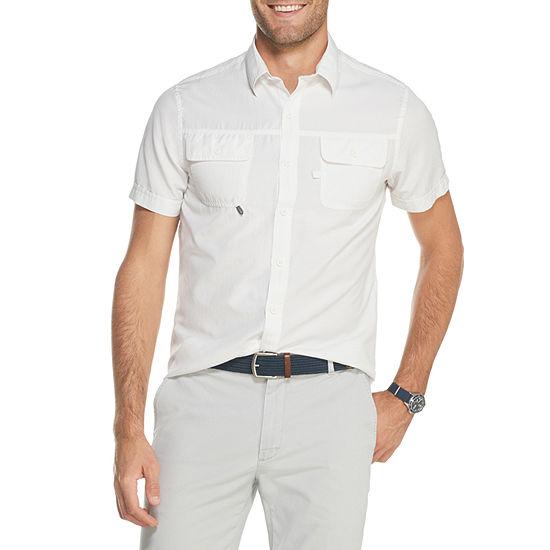 IZOD Saltwater Beach Short Sleeve Button-Front Shirt