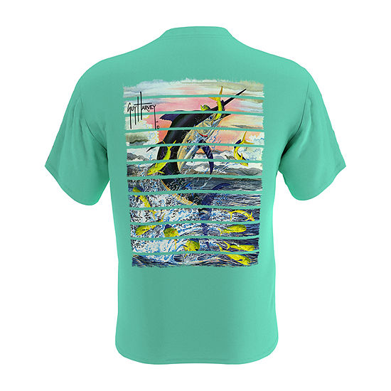 Guy Harvey Mens Crew Neck Short Sleeve T-Shirt