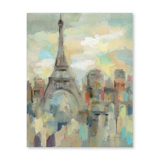 """Courtside Market Paris Impression 30""""X40"""" Canvas Art"""