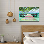 "Courtside Market Rainbow Dock 30""X40"" Canvas Art"