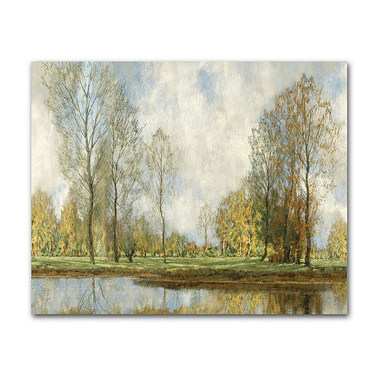 "Courtside Market Golden Landscape 16""X20"" Canvas Art"