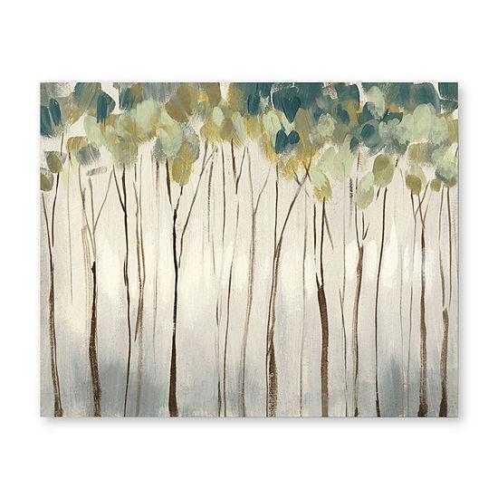 "Courtside Market Neutral Forest 16""X20"" Canvas Art"