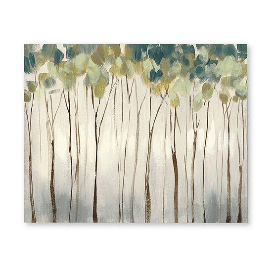 "Courtside Market Neutral Forest 20""X24"" Canvas Art"
