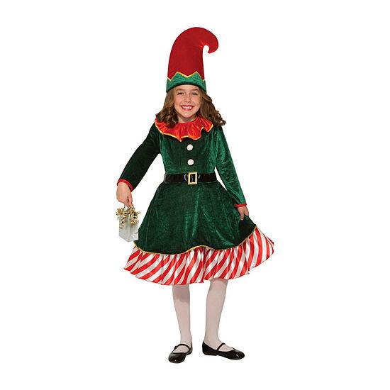 Kids Santa'S Little Elf Costume Girls Costume