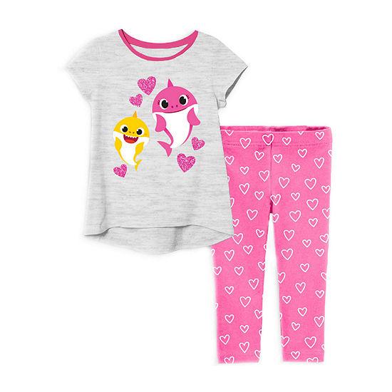 Pinkfong Toddler Girls 2-pc. Baby Shark Legging Set
