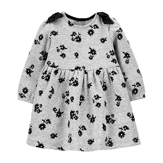 Carter's Baby Girls Long Sleeve Fitted Sleeve Babydoll Dress