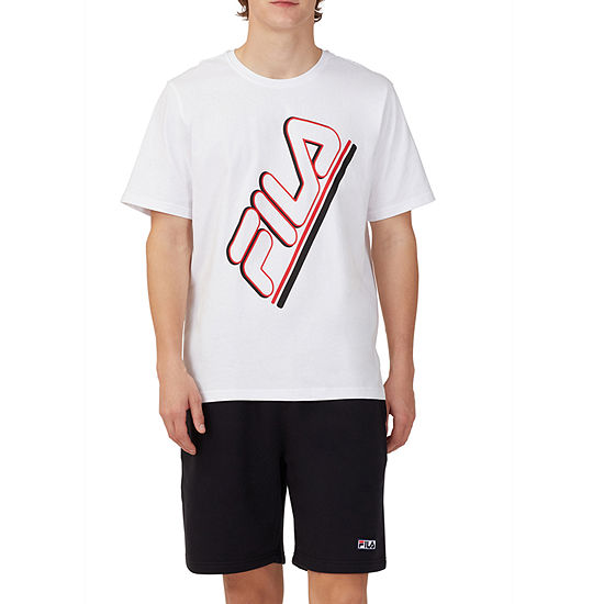 Fila Mens Crew Neck Short Sleeve Graphic T-Shirt