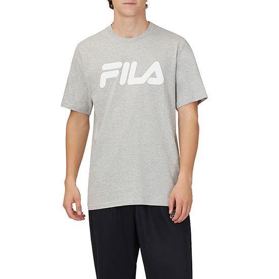 Fila Mens Crew Neck Short Sleeve Graphic T-Shirt