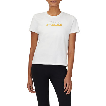 Fila Kelly Womens Crew Neck Short Sleeve T-Shirt, X-small , White