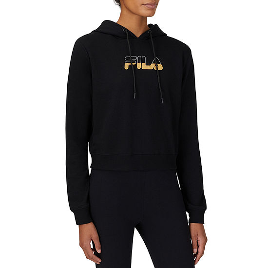Fila River Crop Womens Hooded Neck Long Sleeve Hoodie