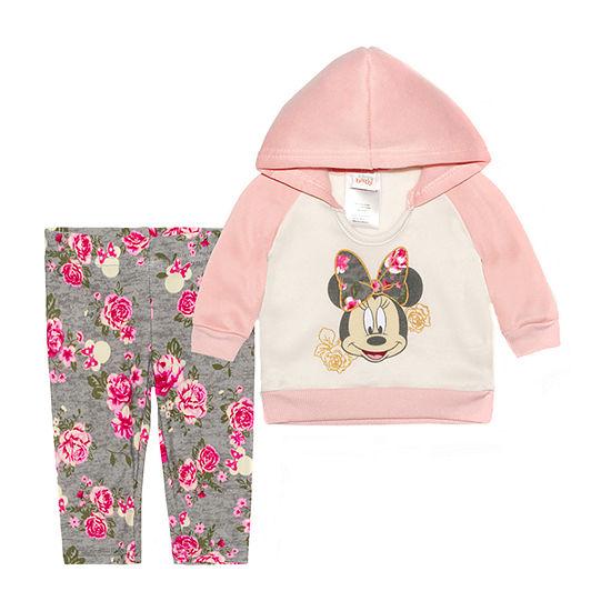 Disney Baby Girls 2-pc. Minnie Mouse Legging Set
