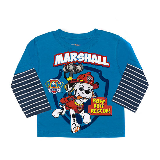 Nickelodeon Baby Boys Crew Neck Paw Patrol Long Sleeve Graphic T-Shirt
