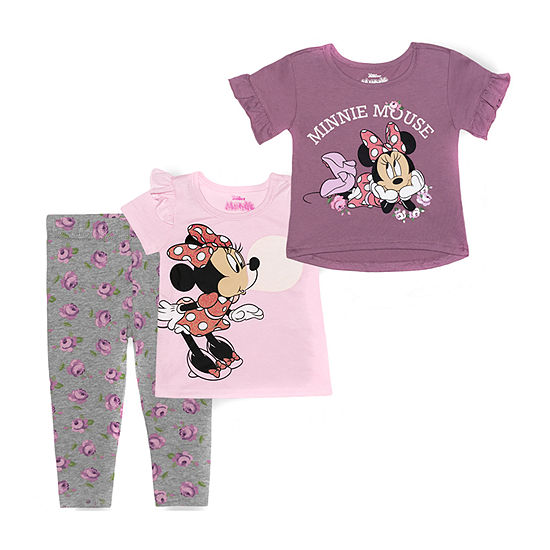 Disney Baby Girls 3-pc. Minnie Mouse Legging Set