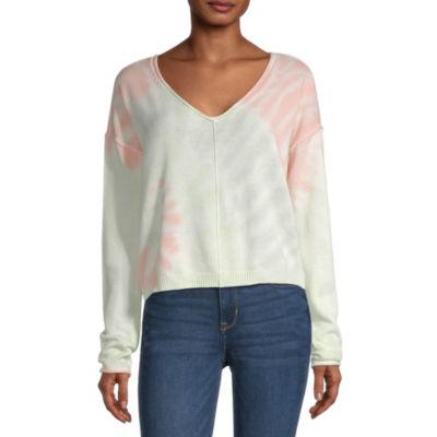 Arizona Juniors Womens Long Sleeve Tie Dye Sweater
