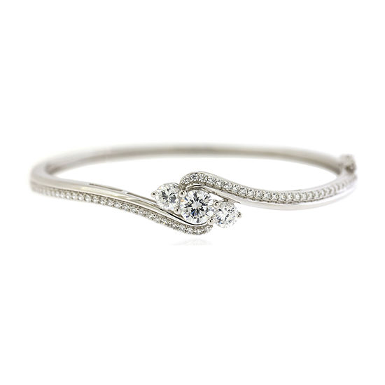 DiamonArt® 3-Stone Cubic Zirconia Bangle