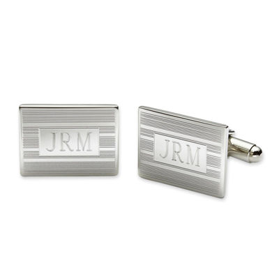 Personalized Rectangular Cuff Links