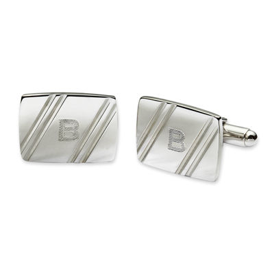 Personalized Facet-Cut Cuff Links