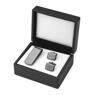 Monogrammed Money Clip & Cuff Links Set