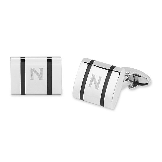 Personalized Polished Stainless Steel Cuff Links