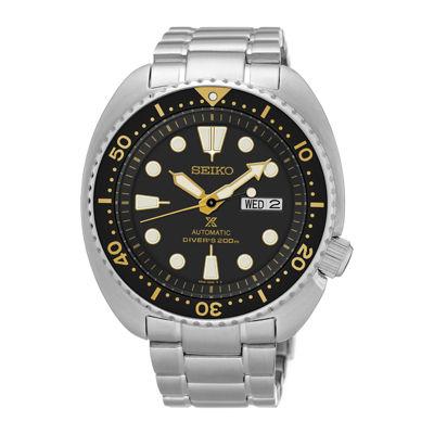 Seiko Dive Mens Silver Tone Bracelet Watch-Srp775