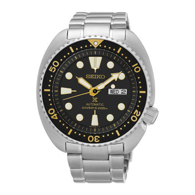 Seiko Dive Mens Silver Tone Bracelet Watch-Srp775