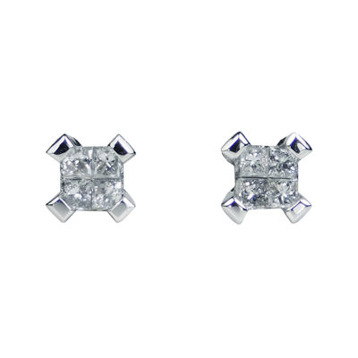 LIMITED QUANTITIES 1/2 CT. T.W. Diamond 14K White Gold Stud Earrings