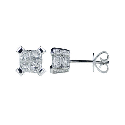 LIMITED QUANTITIES 1 CT. T.W. Diamond 14K White Gold Stud Earrings