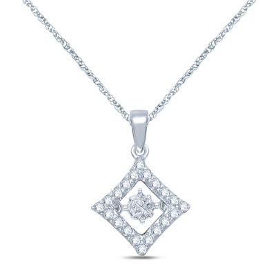 1/4 CT. T.W. Diamond 10K White Gold Pendant Necklace