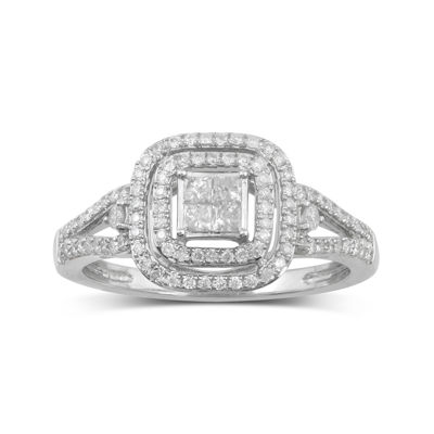 1/2 CT. T.W. Diamond 10K White Gold Bridal Ring