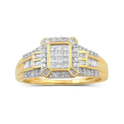 1/2 CT. T.W. Diamond 10K Yellow Gold Bridal Ring