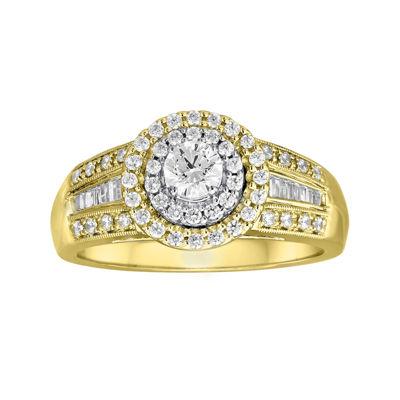 3/4 CT. T.W. Diamond 10K Two-Tone Gold Ring