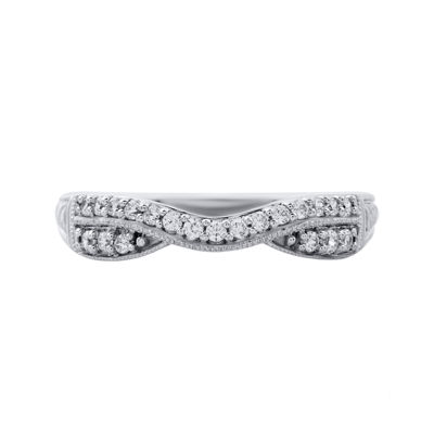 1/4 CT. T.W. Diamond 10K White Gold Band Ring