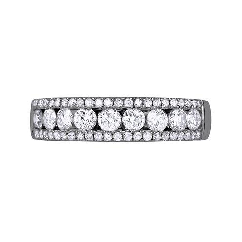 1 CT. T.W. Diamond 14K White Gold Band