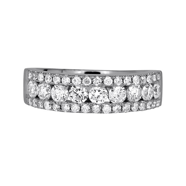 1 ½ CT. T.W. Diamond 14K White Gold Band