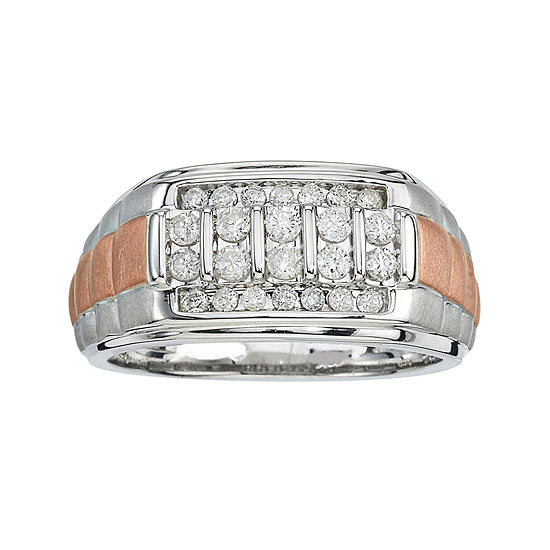 Mens 1/2 CT. T.W. Diamond 10K Two-Tone Gold Ring