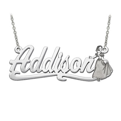 Disney Personalized Snow White 45x17mm Name Necklace