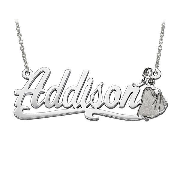 Disney Disney Collection Personalized Snow White Name Necklace gpymTksbev