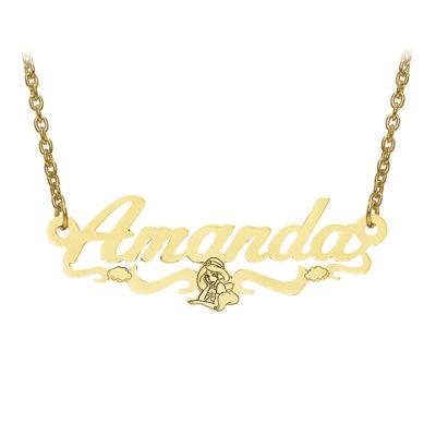 Disney Personalized Kids Jasmine 13x35mm Name Necklace