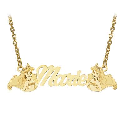 Disney Personalized Kids Ariel 10x37mm Name Necklace